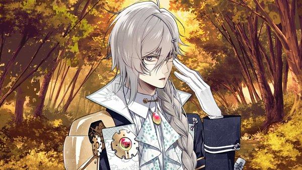 Tags: Anime, Hanamura Mai, IDEA FACTORY, Kadokawa Games, Marvelous Inc., Sengoku Night Blood, Ishida Mitsunari (Sengoku Night Blood), Wallpaper, CG Art