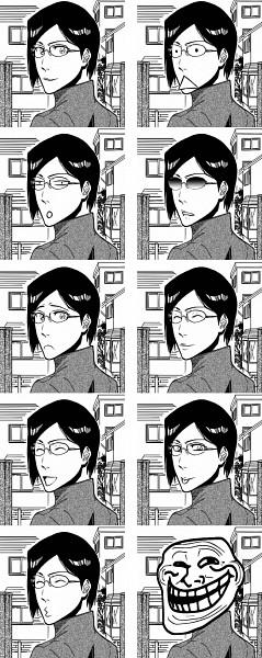 Tags: Anime, BLEACH, Ishida Uryuu, Troll Face, Edited