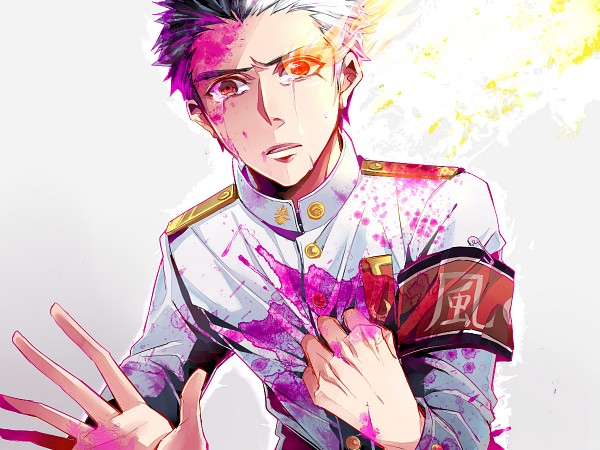 Tags: Anime, Pixiv Id 364825, Danganronpa, Ishimaru Kiyotaka, Fiery Eyes, Unusual Colored Blood, Fanart From Pixiv, Fanart, Pixiv, Wallpaper
