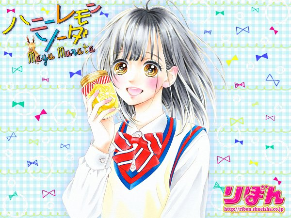 Tags: Anime, Murata Mayu, Honey Lemon Soda, Ishimori Uka, Official Wallpaper, Wallpaper, Official Art