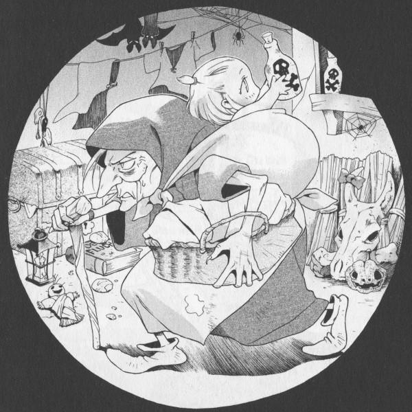 Tags: Anime, Ishiyama Keiko, Grimms Manga, Rapunzel, Manga Page, Chapter Cover, Scan, Official Art