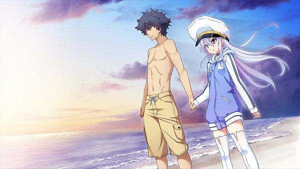Tags: Anime, Island (VN), Sanzenkai Setsuna, Ohara Rinne, Dusk, CG Art
