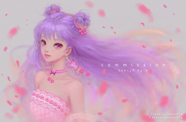 Tags: Anime, Issac Lily, Facebook Cover, Commission, Pixiv, Original