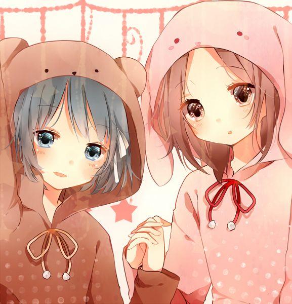 Tags: Anime, not (Pixiv6491902), Isshuukan Friends., Yamagishi Saki, Fujimiya Kaori, PNG Conversion