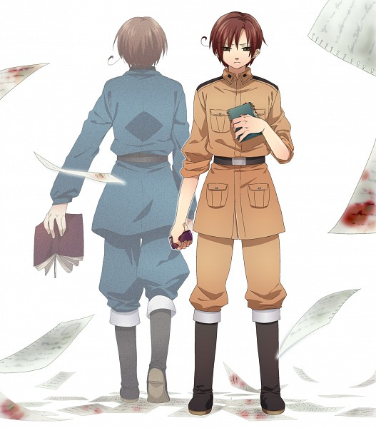 Tags: Anime, Ikuhashi Muiko, Axis Powers: Hetalia, Hetaoni, South Italy, North Italy, Fanart, Pixiv, Italy Brothers, Mediterranean Countries, Axis Power Countries