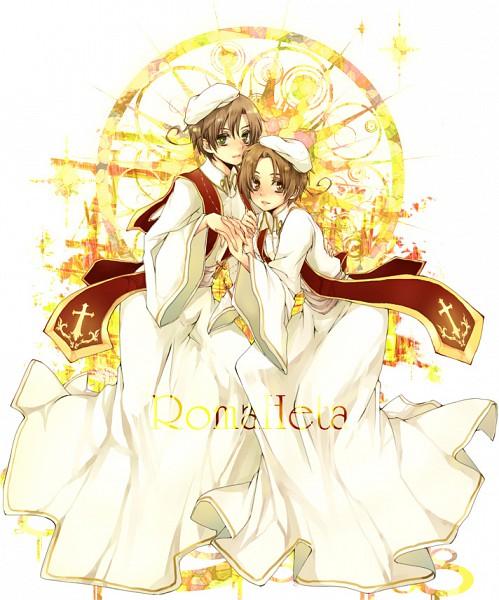 Tags: Anime, Tobi One, Axis Powers: Hetalia, Romaheta, South Italy, North Italy, Clergy, Fanart, Italy Brothers