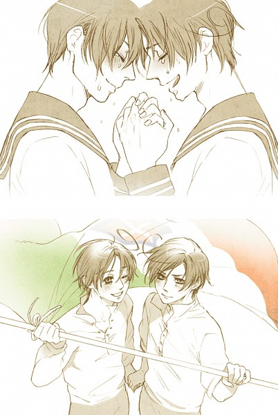 Tags: Anime, Pixiv Id 371026, Axis Powers: Hetalia, South Italy, North Italy, Fanart, Mobile Wallpaper, Pixiv, Mediterranean Countries, Axis Power Countries, Italy Brothers