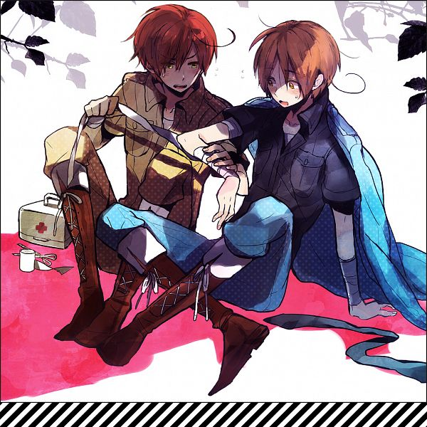 Tags: Anime, Rusuko, Axis Powers: Hetalia, South Italy, North Italy, Fanart, Pixiv, Axis Power Countries, Italy Brothers, Mediterranean Countries