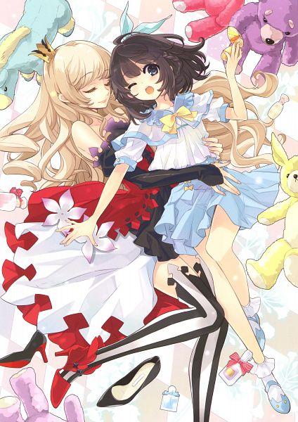 Tags: Anime, Ito Noizi, Eshi 100-nin Ten 05, Mini Crown, Stuffed Horse, Scan, Mobile Wallpaper, Original