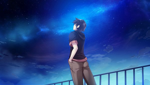 Tags: Anime, UNiSONSHIFT, Ryuusei☆Kiseki -Shooting Probe-, Itokawa Hayato, Wallpaper, HD Wallpaper, CG Art