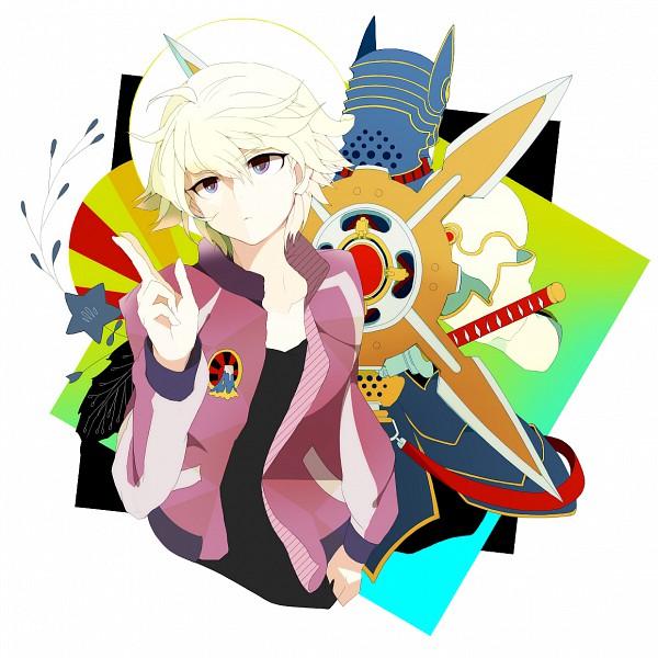 Tags: Anime, Pixiv Id 222249, TIGER & BUNNY, Origami Cyclone, Ivan Karelin, Sukajan, Pixiv, Fanart