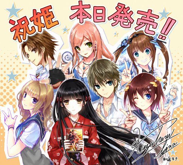 Tags: Anime, Kazuharu Kina, Iwaihime, Atsuta Natsuya, Susuhara Suzumu, Nunokawa Riria, Minobe Kanae, Kurokami Toe, Hinagata Mayu, Harumiya Tsubakiko, Official Art