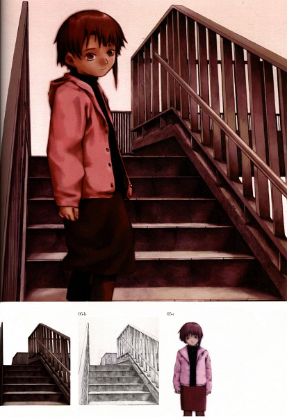 Tags: Anime, Yoshitoshi Abe, Serial Experiments Lain, Iwakura Lain, Official Art