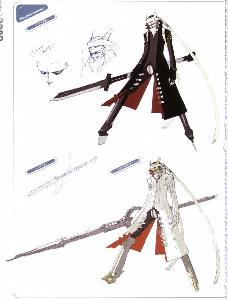 Tags: Anime, Soejima Shigenori, Atlus, P4 Official Design Works, Shin Megami Tensei: PERSONA 4, Izanagi-no-okami, Izanagi, Character Sheet, Official Art