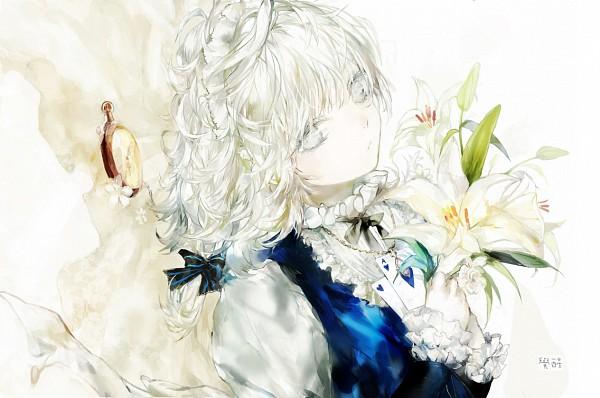 Tags: Anime, Moemoe3345, Touhou, Izayoi Sakuya, White, Fanart From Pixiv, Fanart, Pixiv, Sakuya Izayoi
