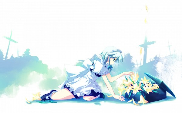 Tags: Anime, Motomiya Mitsuki, Touhou, Izayoi Sakuya, Grave, Pixiv, Fanart, Fanart From Pixiv, Wallpaper, PNG Conversion, Sakuya Izayoi
