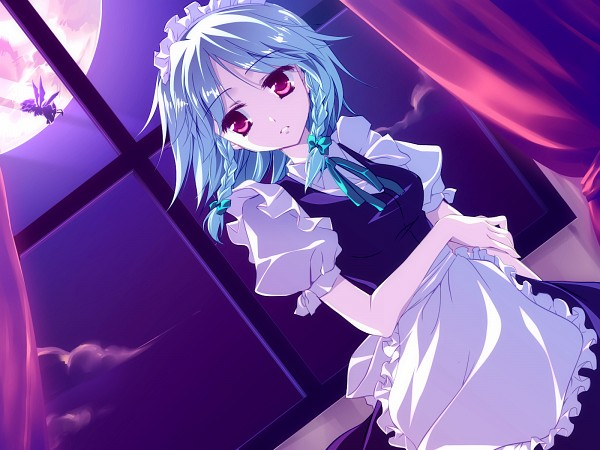 Tags: Anime, Motomiya Mitsuki, Touhou, Izayoi Sakuya, Fanart From Pixiv, PNG Conversion, Fanart, Pixiv, Wallpaper, Sakuya Izayoi