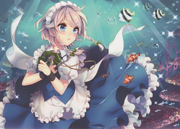 Tags: Anime, Masaru, Gensou Aquapia, Touhou, Izayoi Sakuya, Pocket Watch, Reef, Clownfish, Comic Market 88, Comic Market, Scan, Sakuya Izayoi
