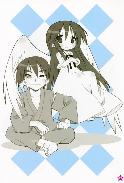 Tags: Anime, Kyoto Animation, Lucky☆Star, Izumi Soujiro, Izumi Kanata, Official Art, Izumi Family