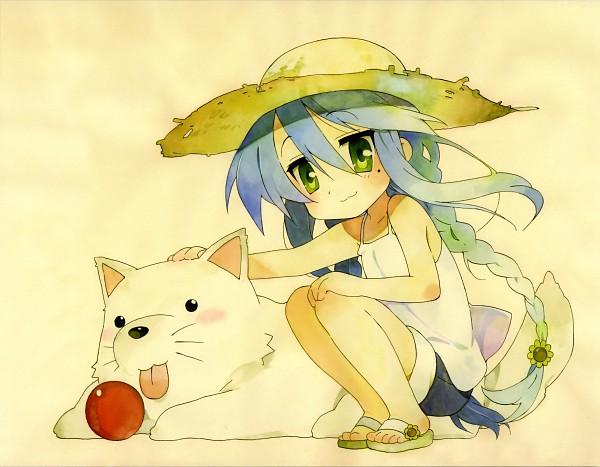 Tags: Anime, Lucky☆Star, Izumi Konata, Daisy (Flower), Wallpaper