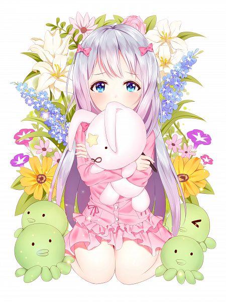 Tags: Anime, Pixiv Id 20778107, Eromanga Sensei, Izumi Sagiri, Octopus, Stuffed Octopus, PNG Conversion, Mobile Wallpaper