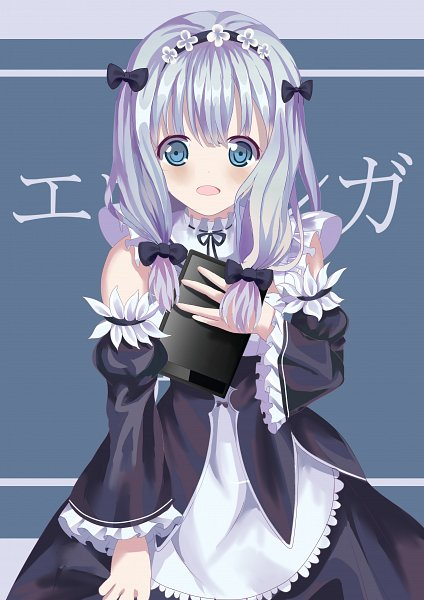 Tags: Anime, Pixiv Id 7511980, Eromanga Sensei, Izumi Sagiri, Tablet, Rem (Re:Zero) (Cosplay), Pixiv, Fanart, Fanart From Pixiv