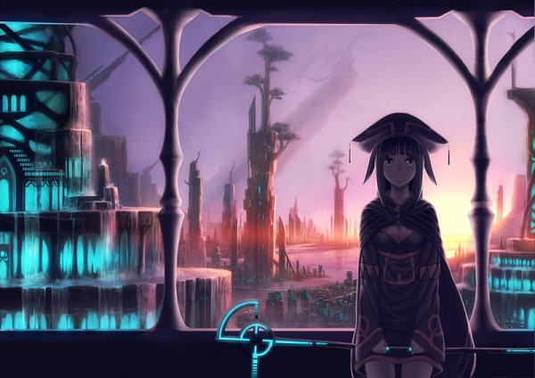 Tags: Anime, Izumi Sai, Waterfall, Pixiv, Original