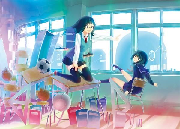 Tags: Anime, Izumi Sai, Volleyball, Locker, Original, Pixiv