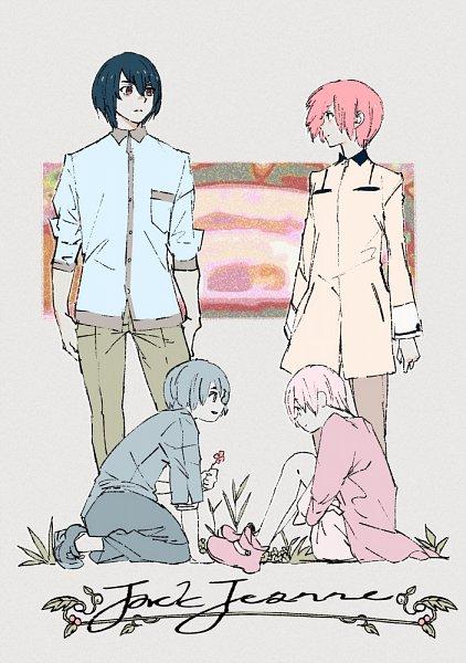 Tags: Anime, Ishida Sui, JACKJEANNE, Tachibana Kisa, Yonaga Soushirou, Twitter, Official Art