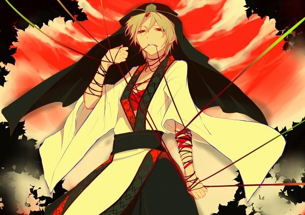 Tags: Anime, Rikoko (@SHIMAPAN), MAGI: The Labyrinth of Magic, Ja'far, Weapon In Mouth, Assassin, Fanart, Pixiv