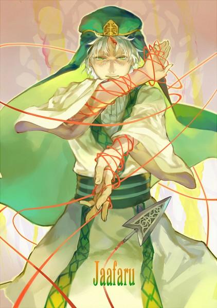 Tags: Anime, Quan-, MAGI: The Labyrinth of Magic, Ja'far, Writing Error, Assassin, Pixiv, Fanart, Fanart From Pixiv, Mobile Wallpaper