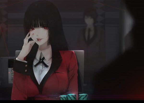 Tags: Anime, Aoi Ogata, Kakegurui, Jabami Yumeko, Gambling Chips, Pixiv, Fanart, Fanart From Pixiv