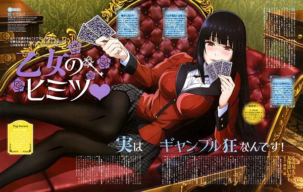 Tags: Anime, MAPPA, Kakegurui, Jabami Yumeko, Official Art, Magazine (Source), Scan