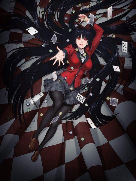 Tags: Anime, Akita Manabu, MAPPA, Kakegurui, Jabami Yumeko, Gambling Chips, Official Art