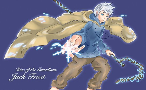 Tags: Anime, Staymoon, Rise of the Guardians, Jack Frost, Blue Hoodie, Fanart From Pixiv, Pixiv, Wallpaper, Fanart