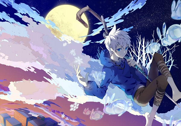 Tags: Anime, Momomoca, Rise of the Guardians, Man In The Moon, Jack Frost, Fanart From Pixiv, Pixiv, Fanart
