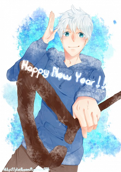 Tags: Anime, Pixiv Id 2833804, Rise of the Guardians, Jack Frost, Blue Hoodie, Fanart, Fanart From Pixiv, PNG Conversion, Pixiv