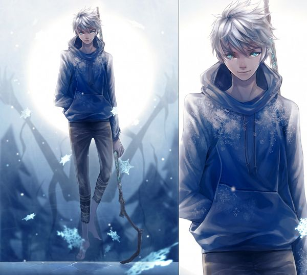 Tags: Anime, Tooaya, Rise of the Guardians, Jack Frost, Blue Hoodie, Pixiv, Fanart, Fanart From Pixiv