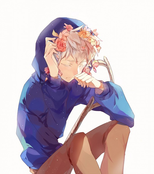 Tags: Anime, Momomoca, Rise of the Guardians, Jack Frost, Blue Hoodie, Colored Eyelashes, Fanart From Pixiv, Pixiv, Fanart