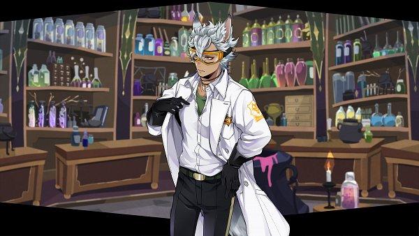 Tags: Anime, Toboso Yana, f4samurai, Twisted Wonderland, Jack Howl, Laboratory, Shelf, Screenshot