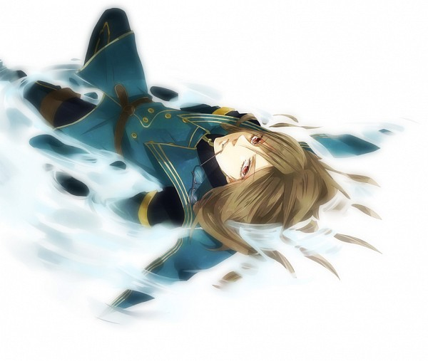 Tags: Anime, Niiko, Tales of the Abyss, Jade Curtiss, Laying in Water, Fanart, Pixiv