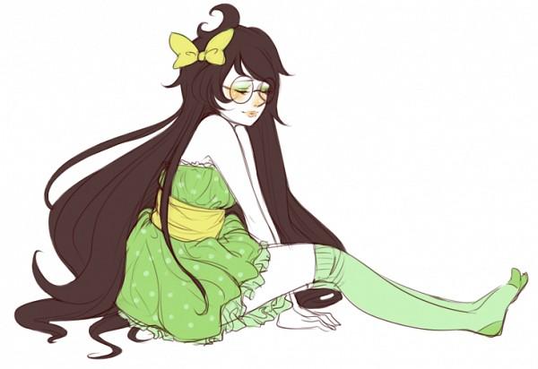 Tags: Anime, Prospicle, Homestuck, Jade Harley, Green Legwear, Fanart, Tumblr