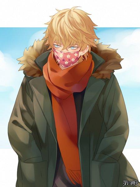 Tags: Anime, Naname Yomi, TOMMY WALKER, Jaeger Sixth, Orange Neckwear, Mobile Wallpaper