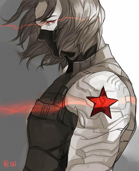 Tags: Anime, Richard Wayne, James Buchanan Barnes, Red Star (Symbol), Fiery Eyes, Marvel, Fanart, Tumblr