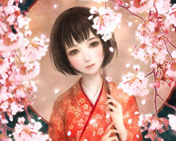 Tags: Anime, Erico Lotus, Axis Powers: Hetalia, Japan (Female), Pixiv, Nyotalia, Wallpaper, Fanart