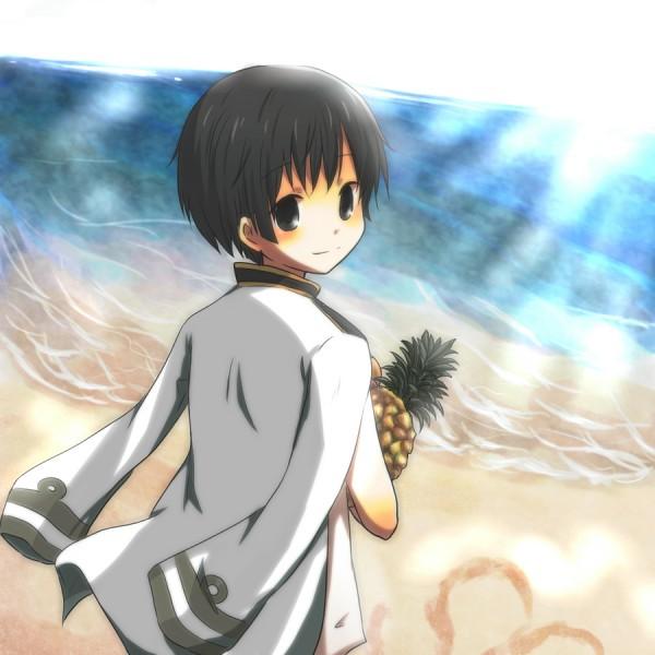 Tags: Anime, Kiryamu, Axis Powers: Hetalia, Japan, Pineapple, Fanart, Pixiv