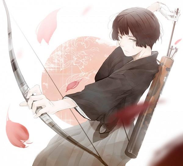 Tags: Anime, Is (artist), Axis Powers: Hetalia, Japan, Red Sun Motif, Flag Background, Pixiv, Fanart