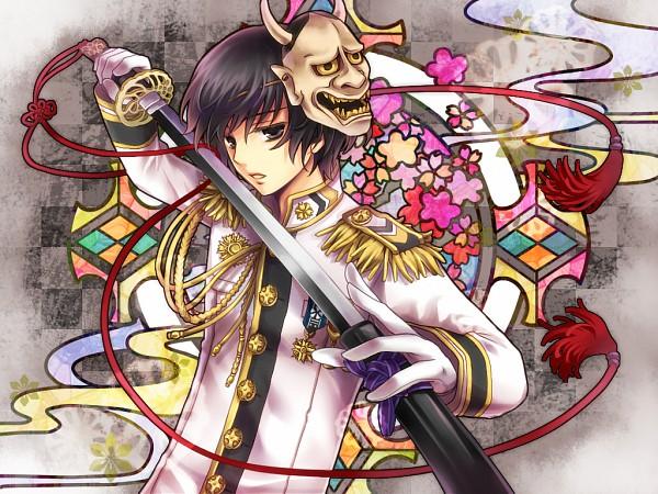 Tags: Anime, Nitou Akane, Axis Powers: Hetalia, Japan, Oni Mask, Pixiv