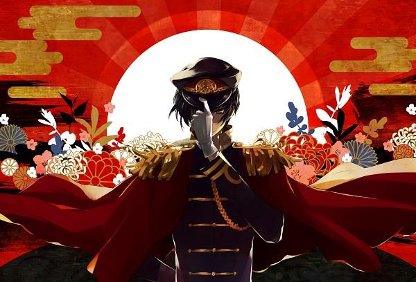 Tags: Anime, necömi, Axis Powers: Hetalia, Japan, Rising Sun Motif, Chrysanthemum