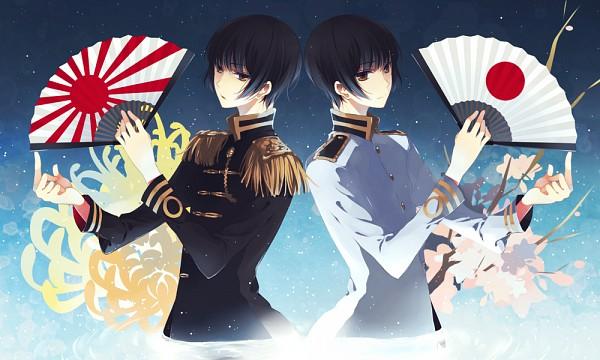 Tags: Anime, necömi, Axis Powers: Hetalia, Japan, Rising Sun Motif, Red Sun Motif, Chrysanthemum, Flag Print, Pixiv, Fanart, Axis Power Countries, Asian Countries
